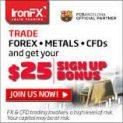 IronFX Broker – 25$ No Deposit Forex Bonus!
